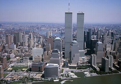 New York City skyline with World Trade Center